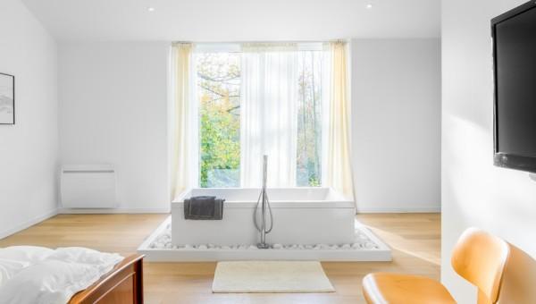 Reportage photo d'intérieur réalisé pour Chalet Concept, Gite, maison d'hôte de charme design située à La Gaubretière en Vendée (85)